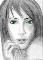 Green Eyes by AniMaArtist