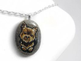 Yorkshire Terrier Pendant Necklace by sobeyondthis