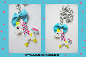Kawaii Unicorn Necklace by denimcraze