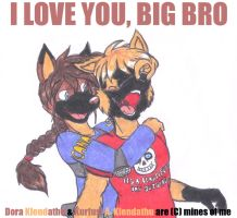 I love you so much, big bro by DingoPatagonico