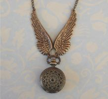 Steampunk PocketWatchNecklace2 by FusedElegance