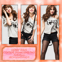 Debby Ryan Photoshoot PNG -Neon Lights PNG'S by SoffMalik