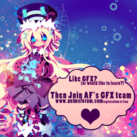Anime Forum GFX Recruiting Poster #1 by blueangel06661