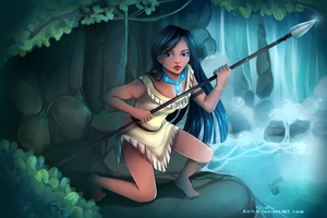 Pocahontas [Speedpaint incl.] by RizaLa