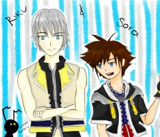 Smily Friendship- Riku and Sora by Mich1309