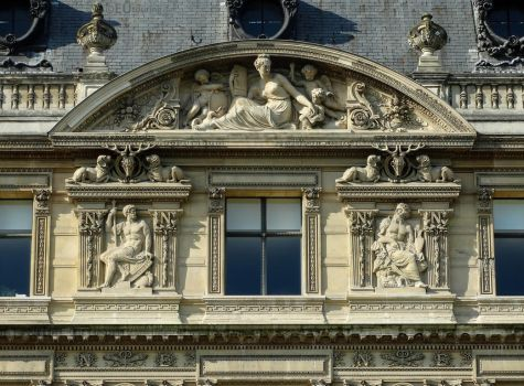 Details around windows of the Louvre by EUtouring