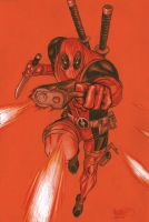 Deadpool Commission by MicahJGunnell