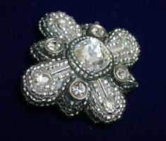Swarovski Beaded Brooch by Johaari