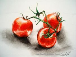 Drawing- tomatoes by Ennete