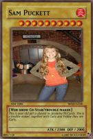 yu gi oh card: Sam Puckett by dragynnboy