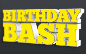 Birthday Bash Isolated 3D Text Objects by loswl