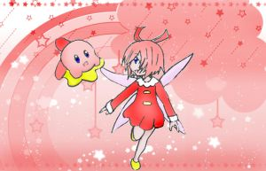 Kirby and Ribbon by MusicboxMelodies