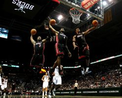 Miami Heat Big 3 by rhurst