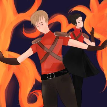 Colin and Rylee by Pyro-Pisces