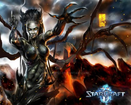 Sarah Kerrigan,Queen of Blades by scarypet