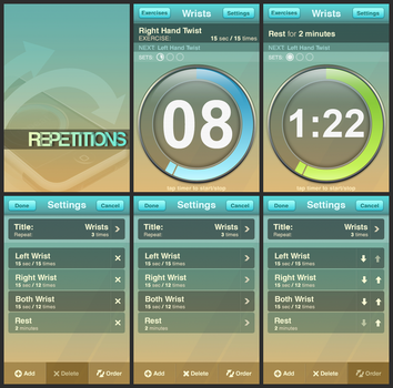 iPhone App. Repetitions by KriGH