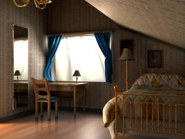 Indoor Bedroom 1 Daytime by Clawson