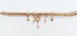 Pink and Gold Fairymail Headband by FaerieForgeDesign
