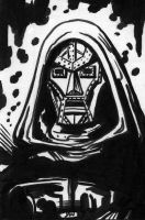 Doctor Doom Sketch Card ACEO by Stungeon