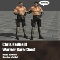 Chris Redfield Warrior Bare Chest by Adngel
