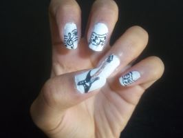 Guitar music nails by krishnails