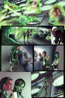 Green Lantern Corps pg.1 by AdamWithers