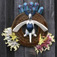 Lugia and Legendary Birds Wall Plate by Sanngot