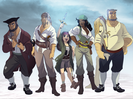 .: The Crew- Colored :. by PirateHearts