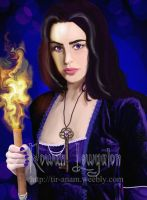 Hekate with her torch by RowanLewgalon