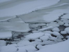 Lake Ontario Canada frozen by Melanie76
