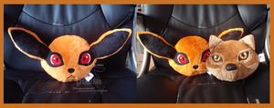 Kurama Cushion SOLD by darkpheonixchild