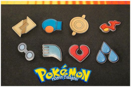 PKMN: Hoenn Gym Badges by adrawer4ever