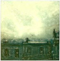 Rowhouse In The Storm by PolaroidVanGogh