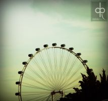singapore's big wheel by januscastrence