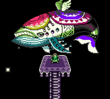 Pixel Vector - Link and The Windfish 'LoZ - LA' by TheMidknightStar