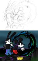 Unfinished - Epic Mickey 2 fanart by dragonsong12