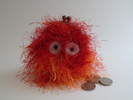 Howl's Moving Castle, Crochet Calcifer Coin Purse by akane0