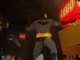 Lego Batman statue by Mana-Ramp-Matoran