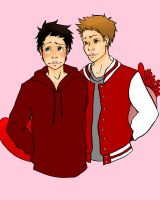Dean and Cas Valentine by elamib