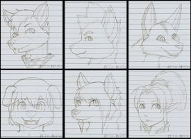 Headshot Sketches dA by Zeta-Haru
