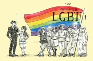 LGBT zine project by anoukbd