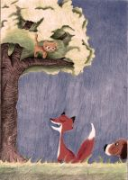 Fable of the cat and the fox by azuh