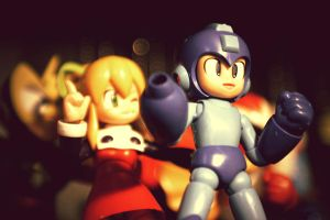 Mega Man and Roll by velvetillusions