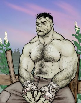 Uerl the Half-Orc in color by NMRosario