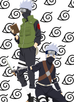 Hatake Kakashi before and afte by Narusailor