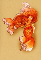 Dinky Goldfish Girl by StressedJenny