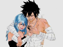 Gray Fullbuster And Juvia Loxar  Request #25 by MetalDBN