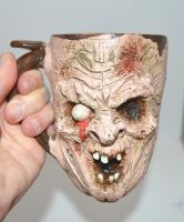 Zombie Mug One of a Kind www.etsy.com/shop/makingf by makingfacespottery