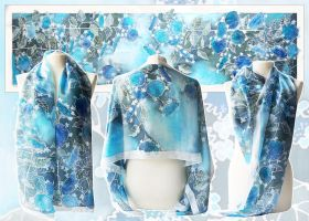 Silk scarf Hydrangea - for SALE by MinkuLul