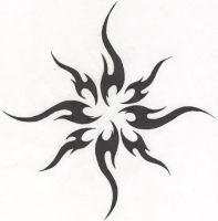 Tattoo-Tribal Sun by HollowMinded